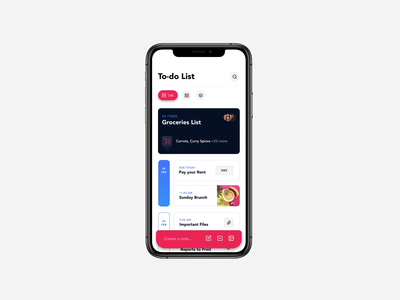 To Do List App check food groceries freebie free download micro interactions animation invision studio to do list invisionstudio invision video motion app ux ui
