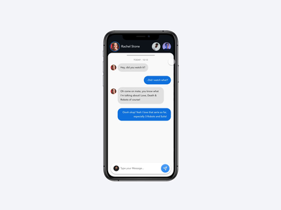 Direct Messaging App chat app chat direct message conversation direct messaging invisionapp invision invision studio freebies freebie free app concept motion design iphone ux ui