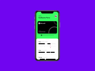 Company NFC Card App invisionapp invision studio invision studio tap access company card nfc concept design free iphone challenge daily motion app ux ui