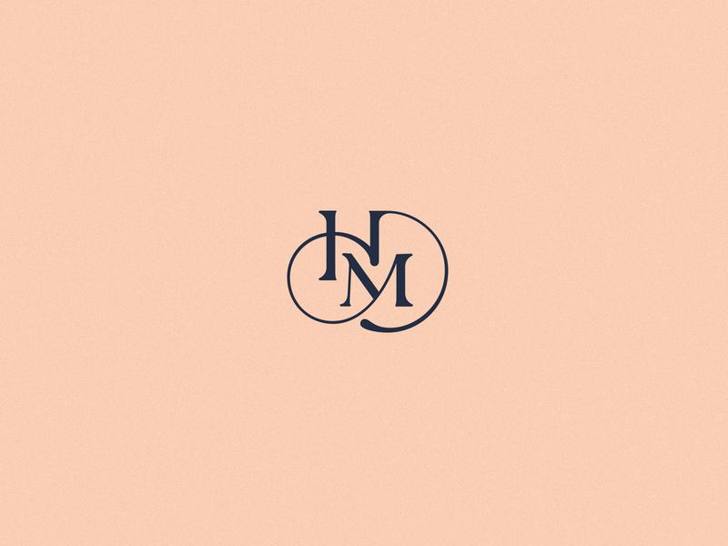 HM Monogram letters lettermark makeup lettering identity hm letters branding hm logodesign logotype monogram
