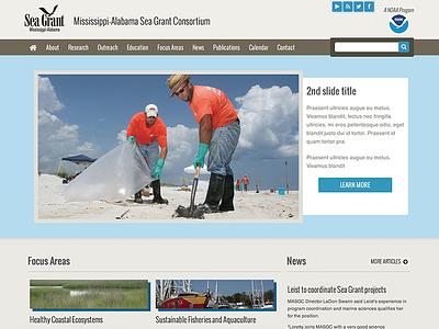 Sea Grant ui ux website homepage