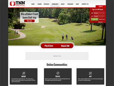 TNN Digital Design ui ux website homepage