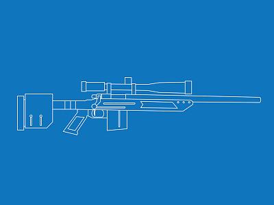Mccree Precision american sniper 308 gun illustration remington
