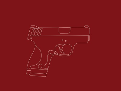 Smith and Wesson Shield gun illustration shield smith wesson