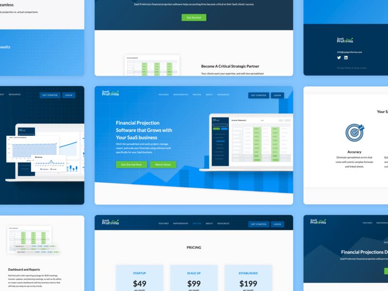 Website Design saas web design projection financial website saas website saas design saas app saas