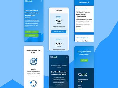Mobile Website Design website design finance website mobile