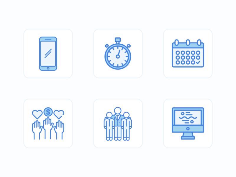 Custom Icon Set icons set startup volunteering volunteer saas icons