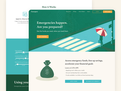 Emergent Reserves Website website design fintech branding fintech web