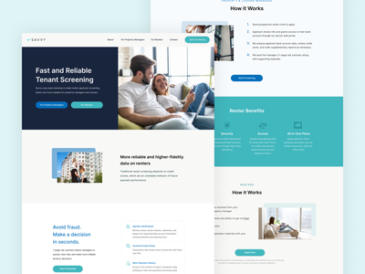 Real Estate Tech Company Website mobile illustration branding fintech branding website realestate fintech