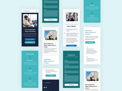 Mobile Website: Real Estate Tech teal blue tech mobile website realestate