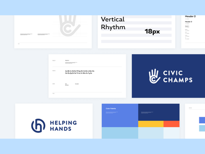 Civic Champs Brand Design branding blue design startup marketing startup logo branddesign startup branding startup nonprofit