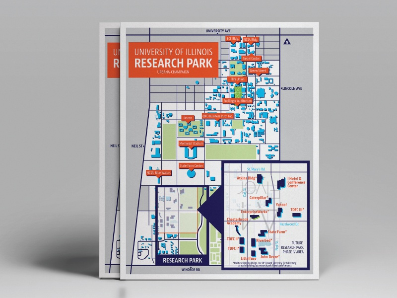 Uiuc Research Park And Campus Map By Charlee Walker Dribbble