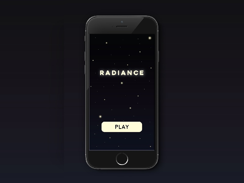 Radiance App night radiance ux ui app game mobile
