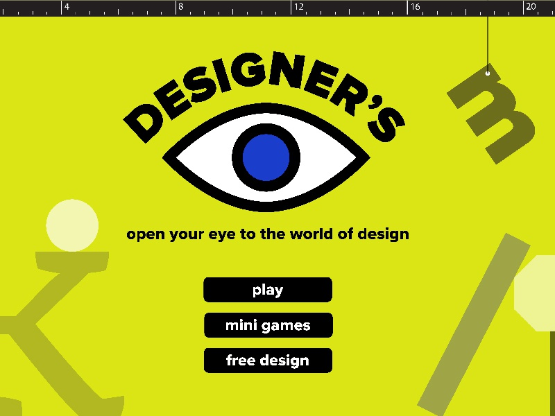 Designer's Eye Children's Computer Game colorful bright kid children game computer eye design