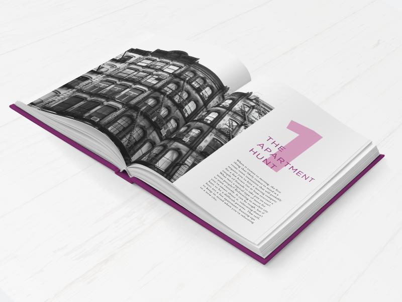 What Highschool Didn't Teach Me Book Design purple cover layout print series design book