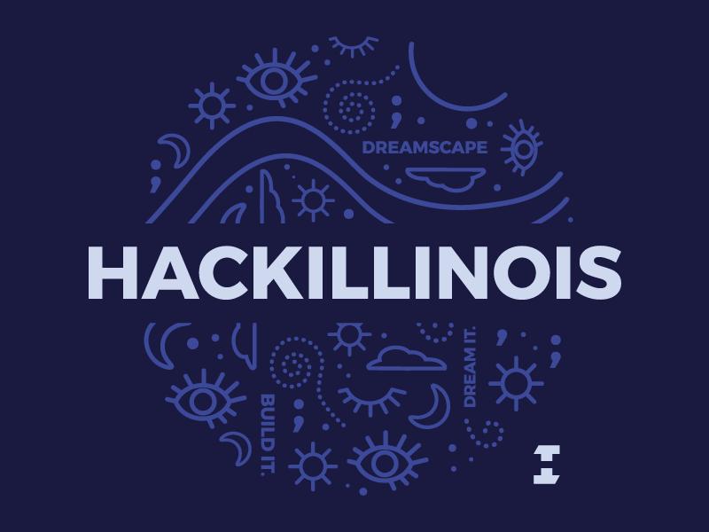 HackIllinois T-shirt Design dreamscape build dream illinois hackathon hack tshirt shirt
