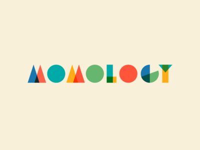 Momology expo event conference children colors blocks branding mom momology logo