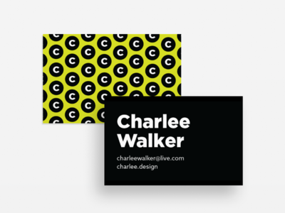 Business Cards c patter bold black lime green branding portfolio personal business cards