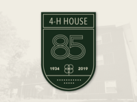4-H House 85th Badge