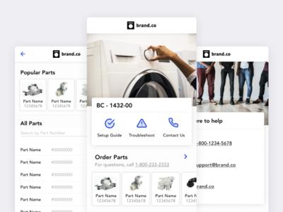 Interactive Product Manual clean manual progressive web app pwa app mobile ui product