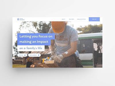 Civic Champs Website volunteering app webdesign imagery carousel website