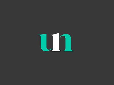 Un | Logotype one monogram clar nic un serif type logo