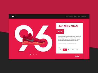 Daily UI   Single Item E-Commerce Site interface user app web design shopping ecommerce clar nic ui nike dailyui