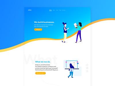 siëo | Website Redesign illustrations web design clar nic page landing ux ui