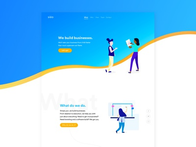 siëo   Website Redesign illustrations web design clar nic page landing ux ui