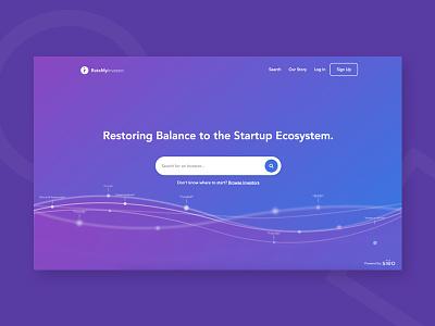 RateMyInvestor | Landing Page app product web design clar nic page landing ux ui