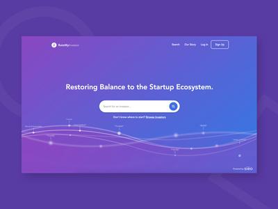 RateMyInvestor   Landing Page app product web design clar nic page landing ux ui