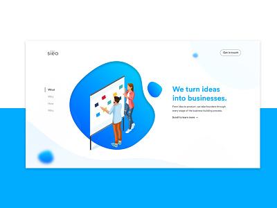 siëo | Website Redesign V2 redesign mockup 3d 2d clar nic sieo ux ui website page landing