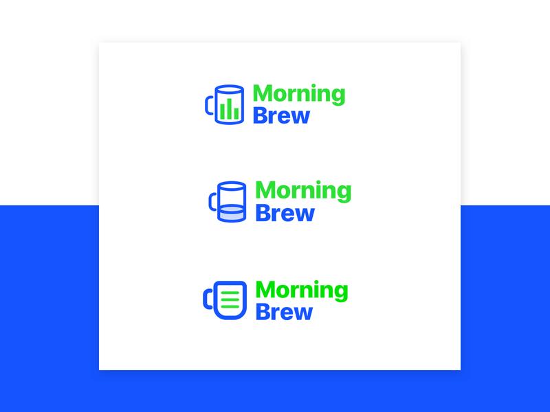 Morning Brew   Logo Redesign typography vector illustration nic clar branding web icon design logo brew morning
