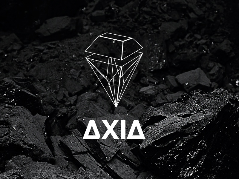 Axia Logo brand agency logo diamond coal mine identity