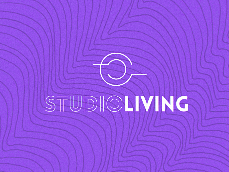 Studio Living Logo logotype pilates fitness gym logo