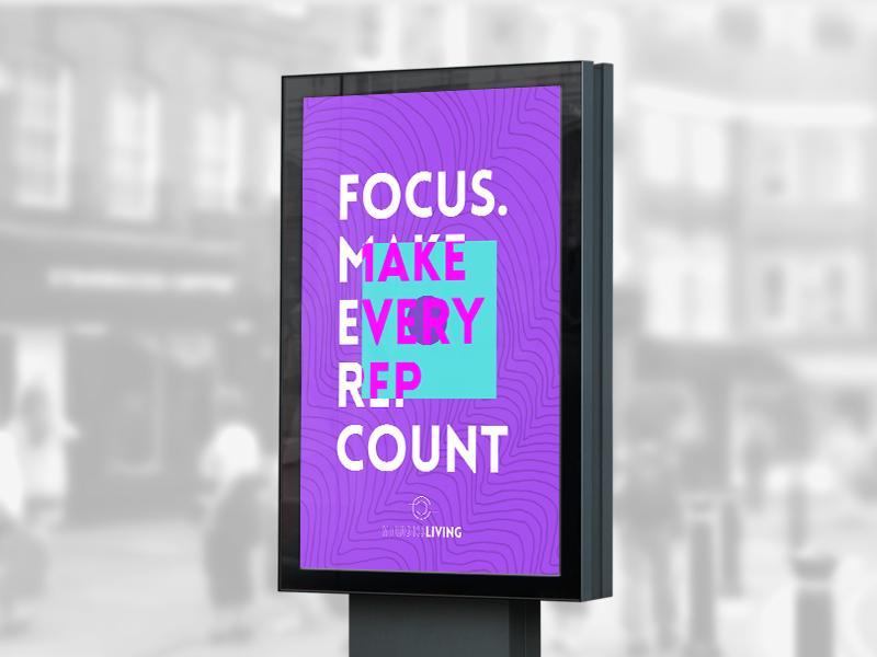 Studio Living Advertising gym fitness advertising