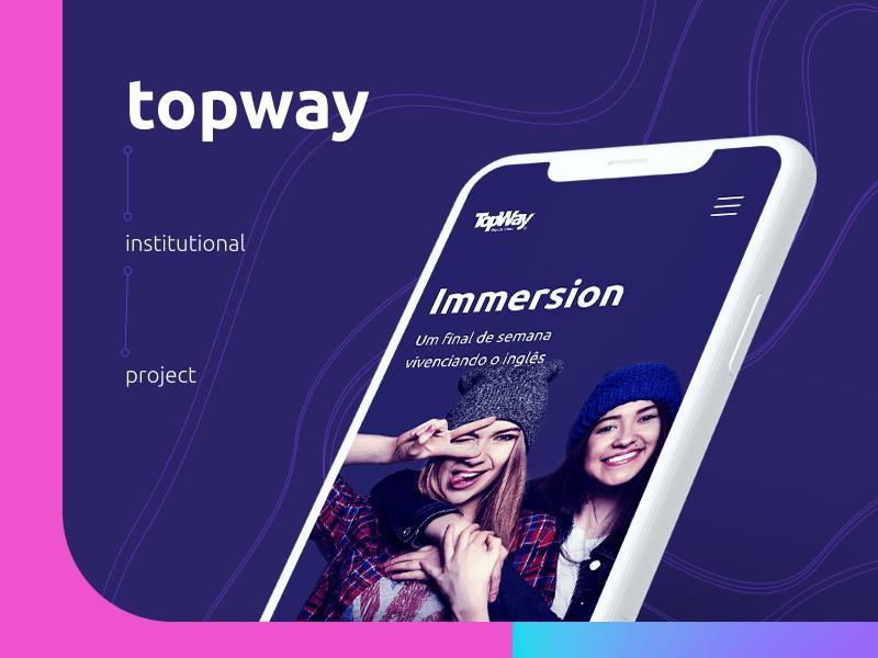 Topway Institutional Project topway icon web ux vector ui design illustration