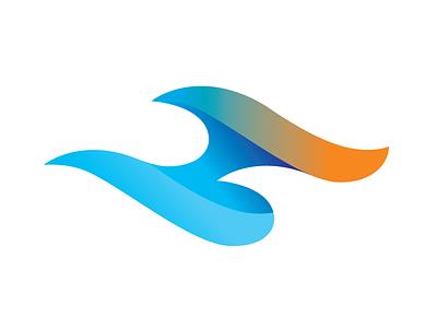 H wave monogram symbol colorful logo lettermark logo design concept greatlogo curve ocean wave h letter logos logo design logodesigner gradient logo gradient logo formula creativa logodesign