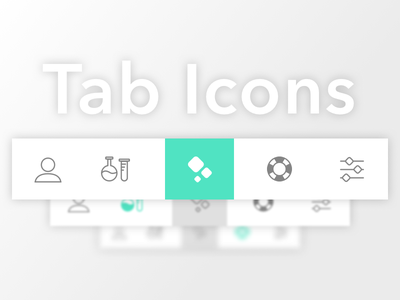 Tab Icons - GoFire iOS App healthcare health medical light elegant thin cannabis ios settings support science icons
