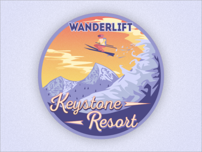 Wanderlift to Keystone Resort Sticker