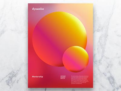 Dynamize Poster - Mentorship colorful poster light sun float circle warm glow college student colorado denver