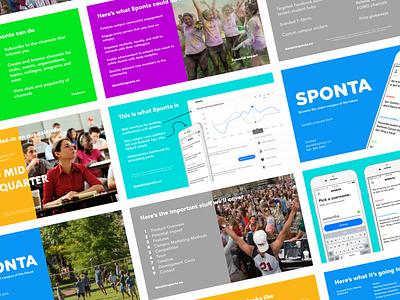 Sponta - Sample Proposal Deck fun fresh student colorful presentation app education school pitch college colorado denver