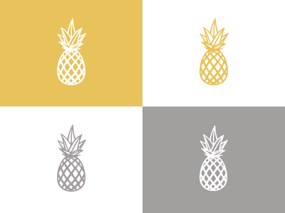 The Pine Logo Mark detail yellow sun friends fruit gold light pineapple modern colorado denver