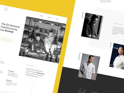 CloudKitchens - Landing Concept Opener grid deliver cook chef light modern kitchen clean page marketing denver