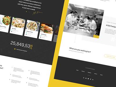 CloudKitchens - Landing Concept Footer grid deliver cook chef light modern kitchen clean food marketing denver