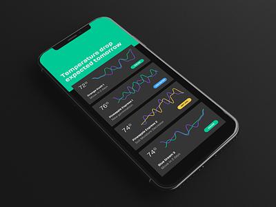 Atomata - iPhone X App Rendering gloss hardware ios grow dark modern rendering 3d app cannabis denver
