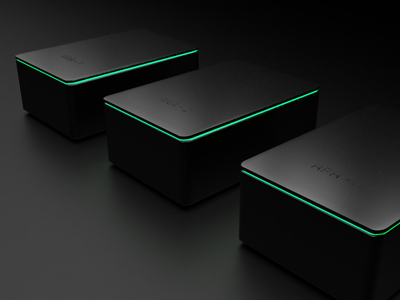 Atomata - Sensor Hubs glow gloss hardware ios grow dark modern rendering 3d app cannabis denver