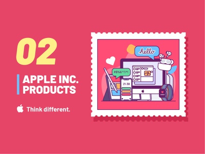 Apple Inc.  products illustration hello ipad imac iphone apple illustration