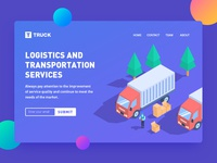Logistics and transportation services - landing page