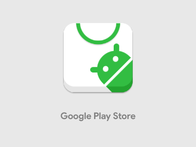 Google Play Store raun icon pack remix iconography store market theme icon android